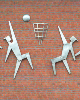 Alfred Schmidt: Basketball, (Foto: KUNST@SH/Jan Petersen, 2017)