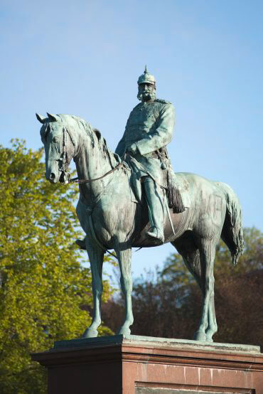 Adolf Brütt: Kaiser Wilhelm I., (Foto: KUNST@SH/Jan Petersen)