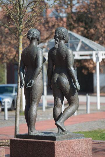 Edgar Augustin: Drei Figuren in Beziehung, (Foto: KUNST@SH/Jan Petersen, 2017)