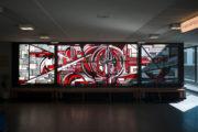 Ernst Günter Hansing: Glasfenster in der Ludwig-Erhard-Schule