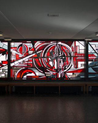Ernst Günter Hansing: Glasfenster (Foto: KUNST@SH/Jan Petersen, 2017)