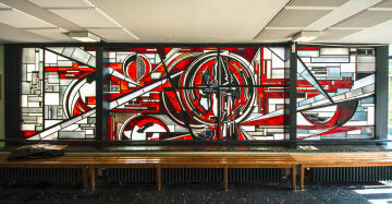 Ernst Günter Hansing: Glasfenster, (Foto: KUNST@SH/Jan Petersen)