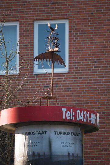 Fritzi Metzger: Eisenvogel, (Foto: KUNST@SH/Jan Petersen)