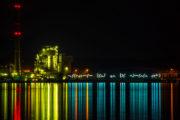 Hans Peter Kuhn: Lichtinstallation am Ostuferhafen