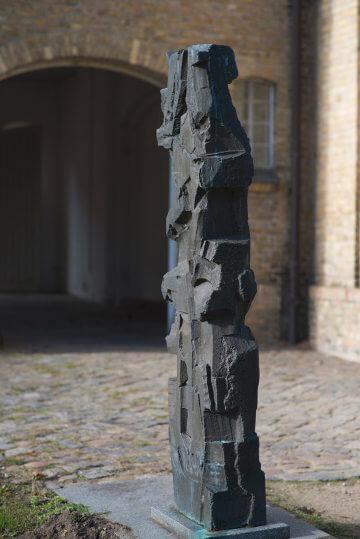 Heinrich Schwarz: Zwei Bronzestelen, (Foto: KUNST@SH/Jan Petersen, 2016)