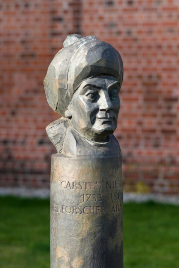 Manfred Sihle-Wissel: Carsten-Niebuhr-Büste, (Foto: KUNST@SH/Jan Petersen)