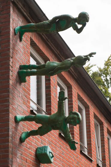 Martin Wolke: Grüne Schulkinder reisen, (Foto: KUNST@SH/Jan Petersen)