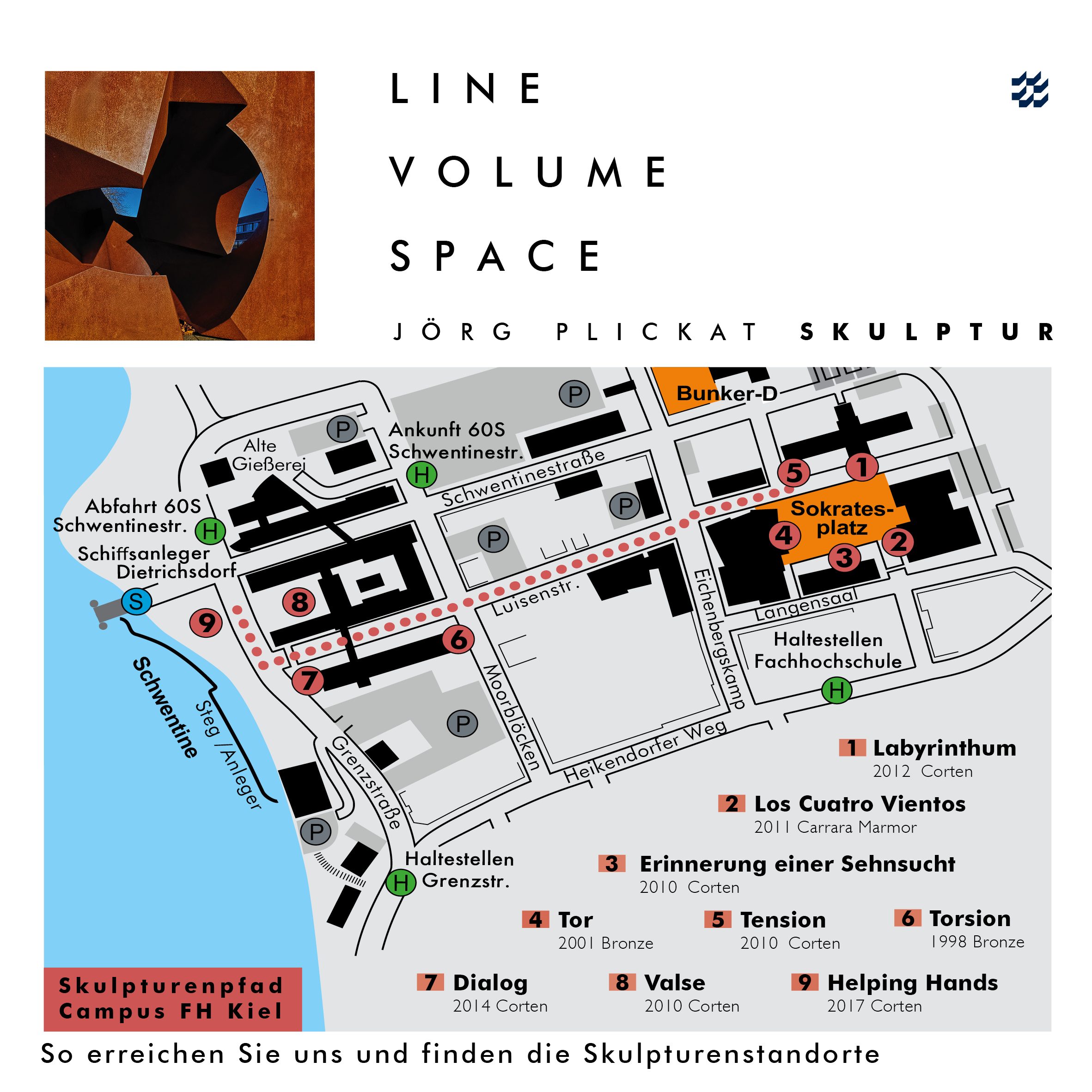 Campusplan LINE – VOLUME – SPACE