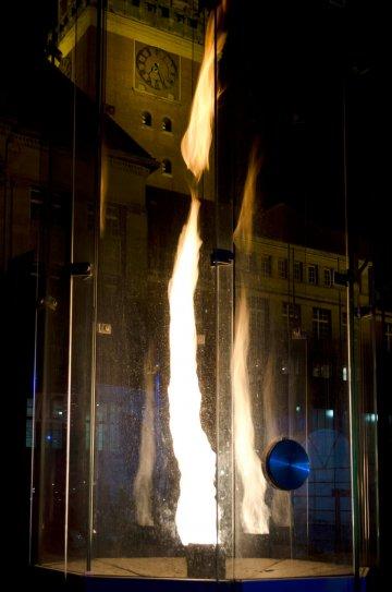 Gary Rieveschl: Feuersäule Vortex, (Foto: KUNST@SH/Jan Petersen)