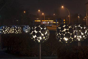 Ulrich Beier: Lichtbäume, (Foto: KUNST@SH/Jan Petersen)